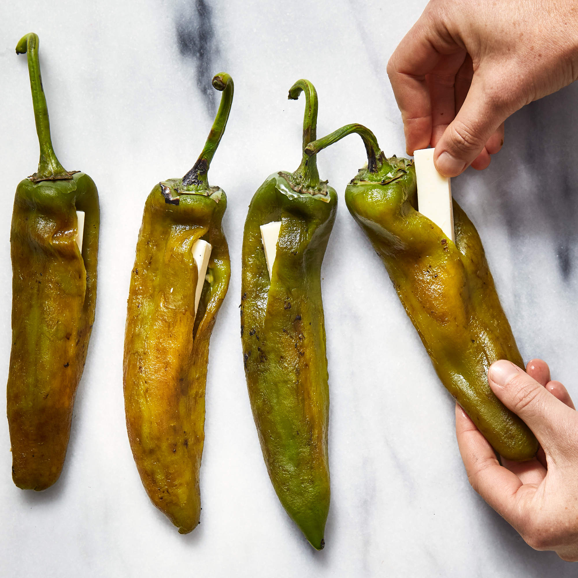 stuffing chiles rellenos