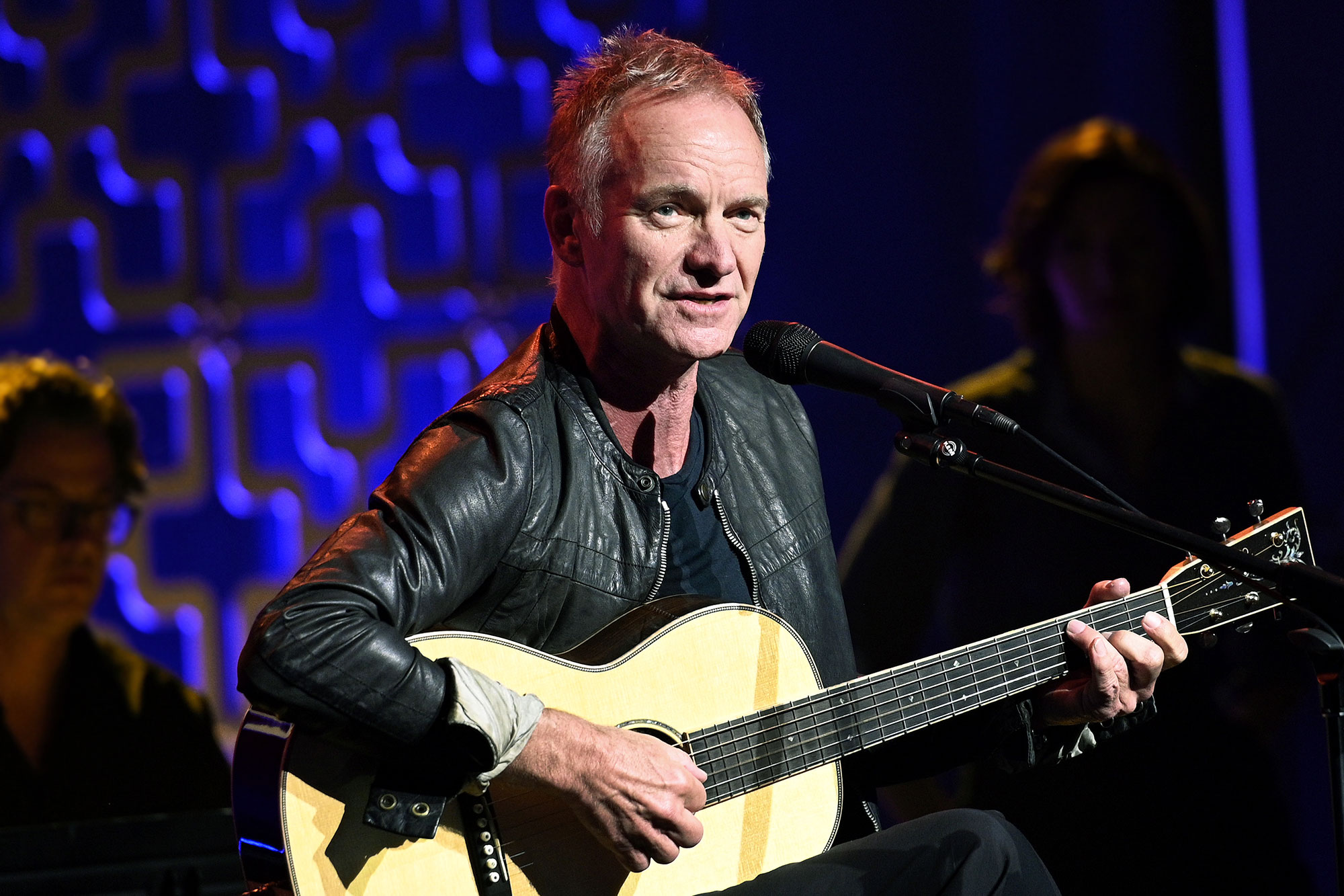 Sting performs live on stage iHeartRadio LIVE with Sting