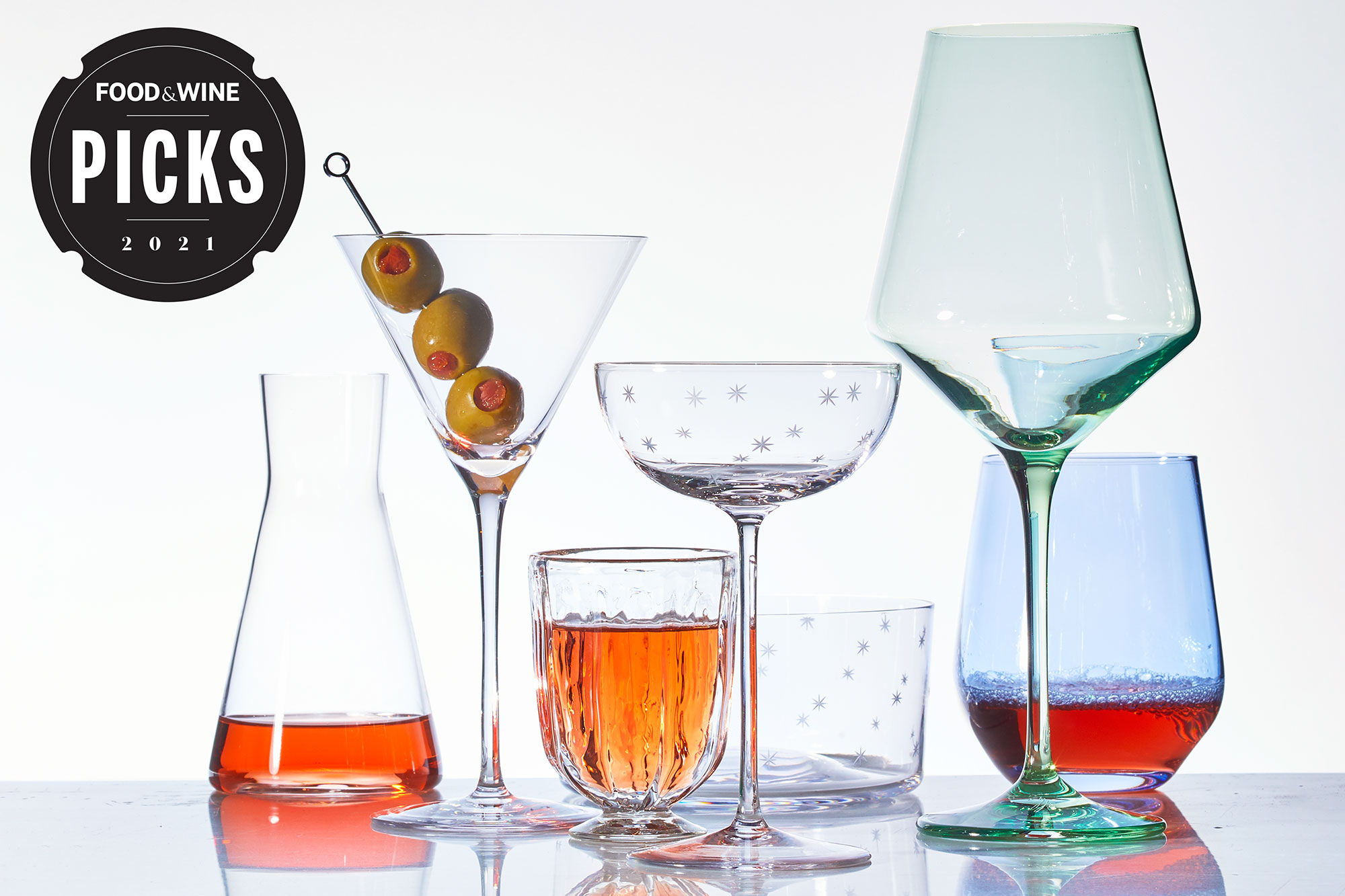 Wine and cocktail glasses