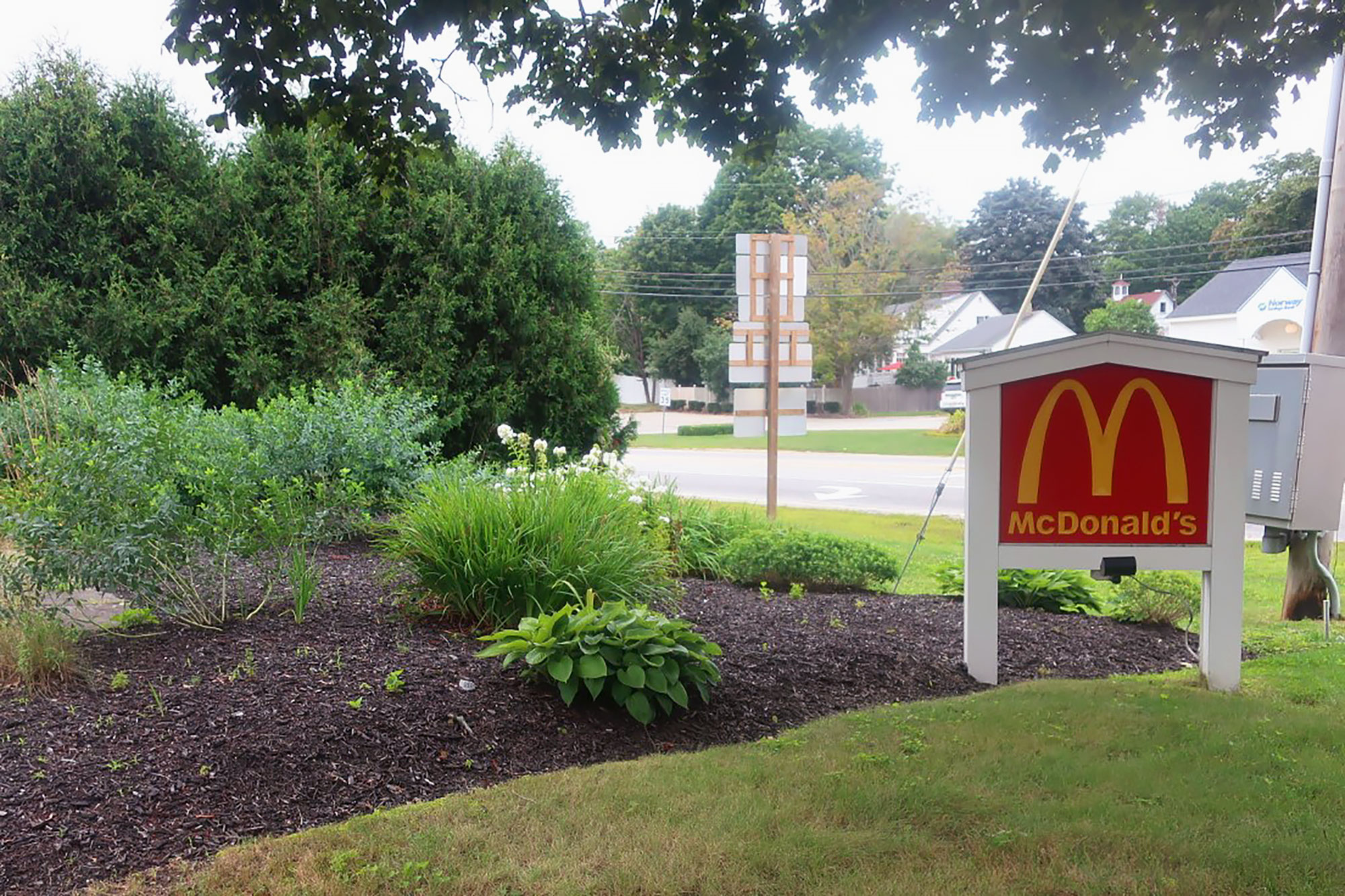 The sign outside a 150-year-old McDonald's restaurant