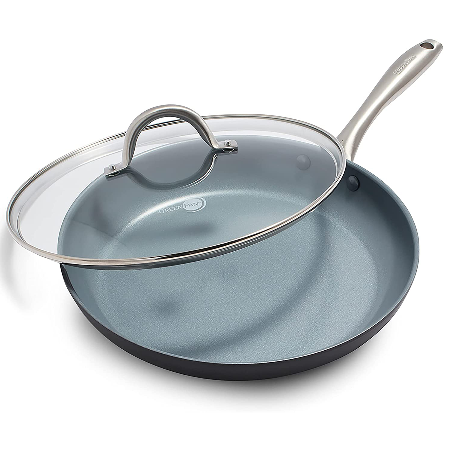GreenPan Lima Healthy Ceramic Nonstick, Frying Pan/Skillet with Lid