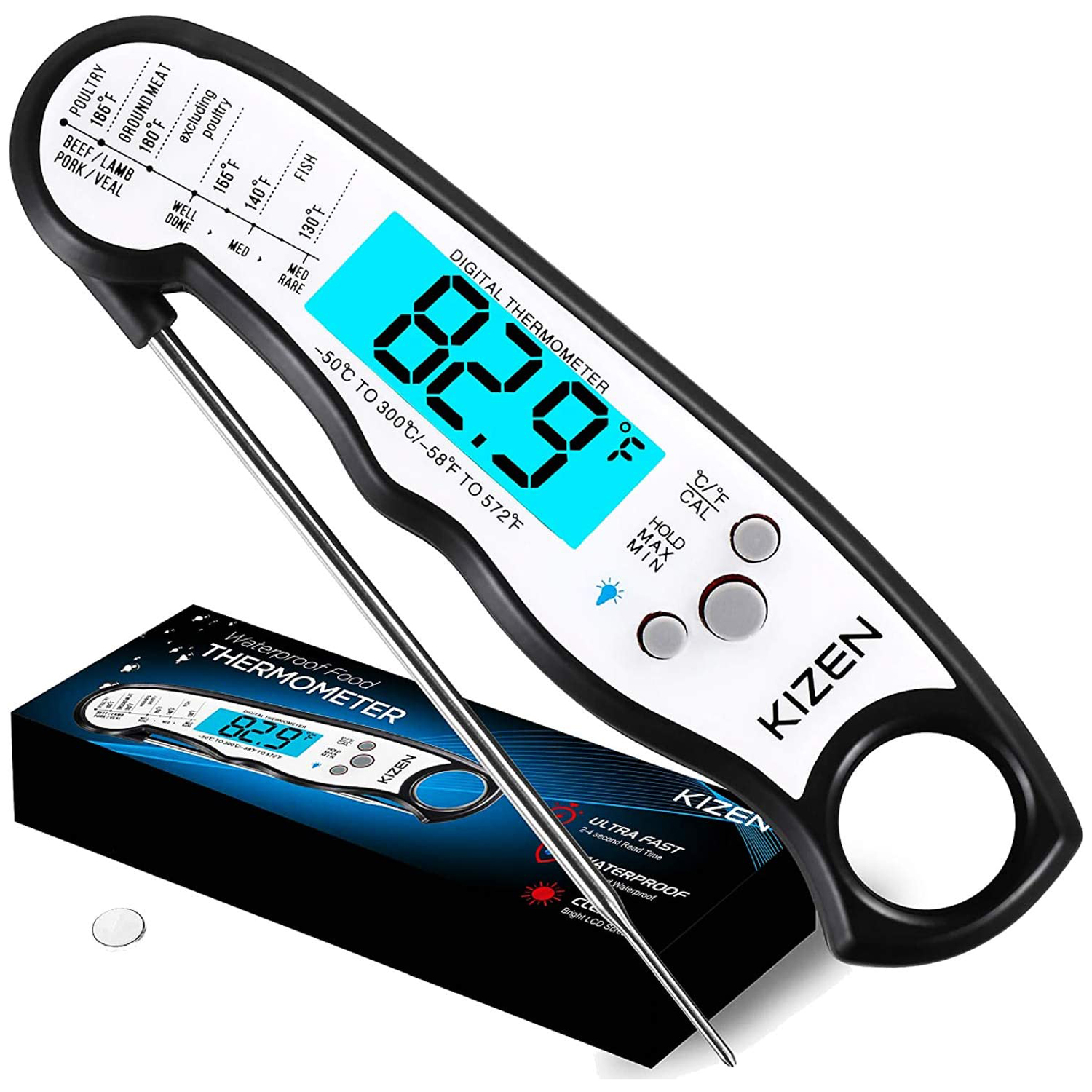 Kizen Digital Meat Thermometers for Cookin