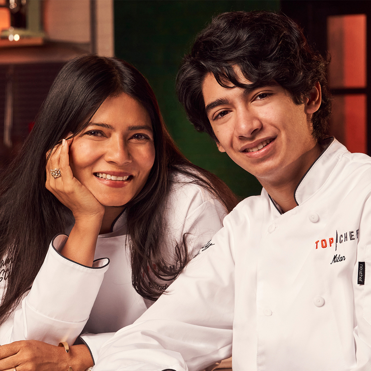 Top Chef Family Style contestants Chandrani and Milan Bhayana