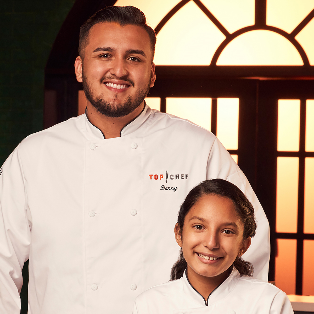 Top Chef Family Style contestants Daniel and Delilah Flores