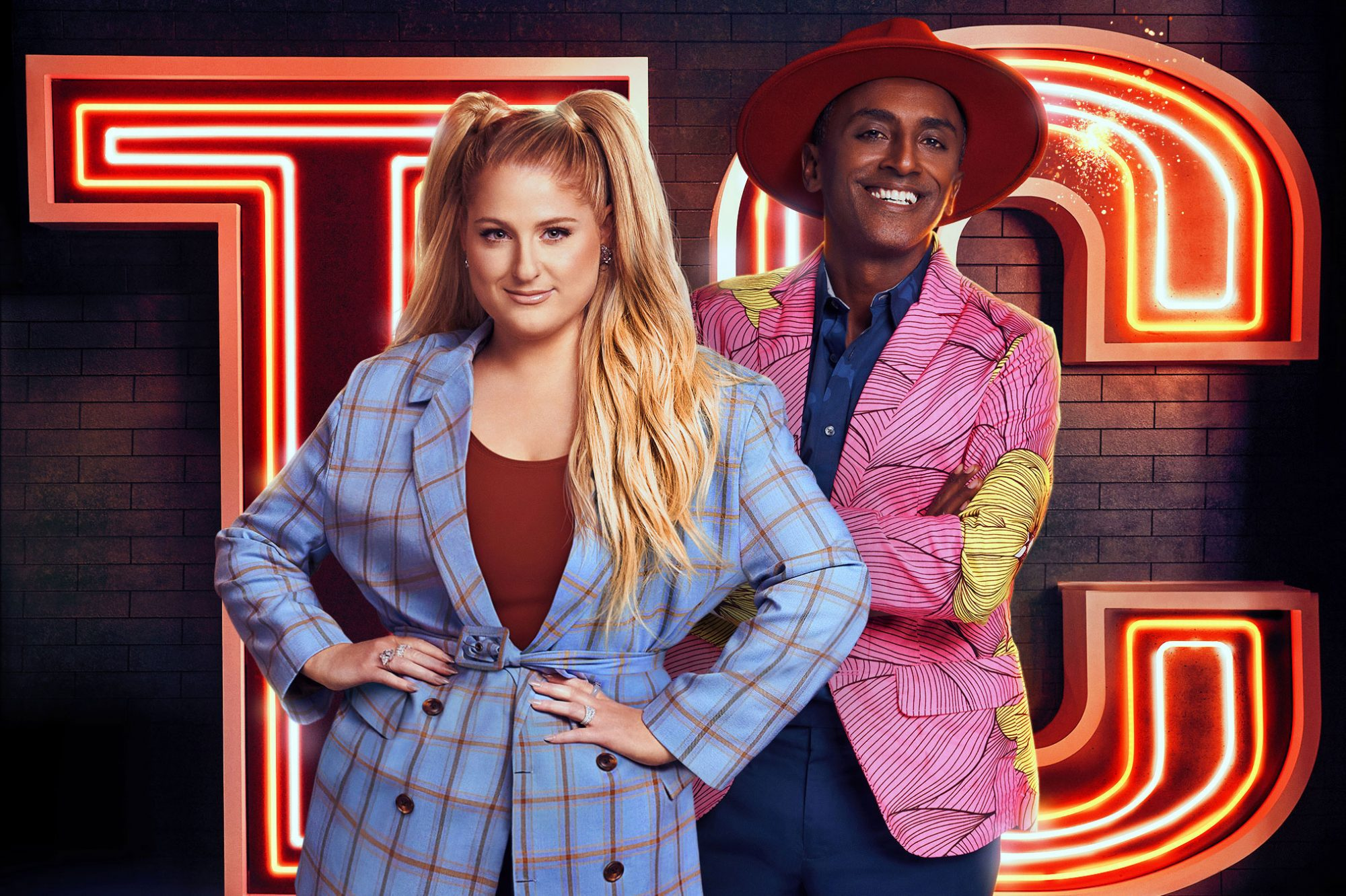 Top Chef Family Style hosts Meghan Trainor and Marcus Samuelsson