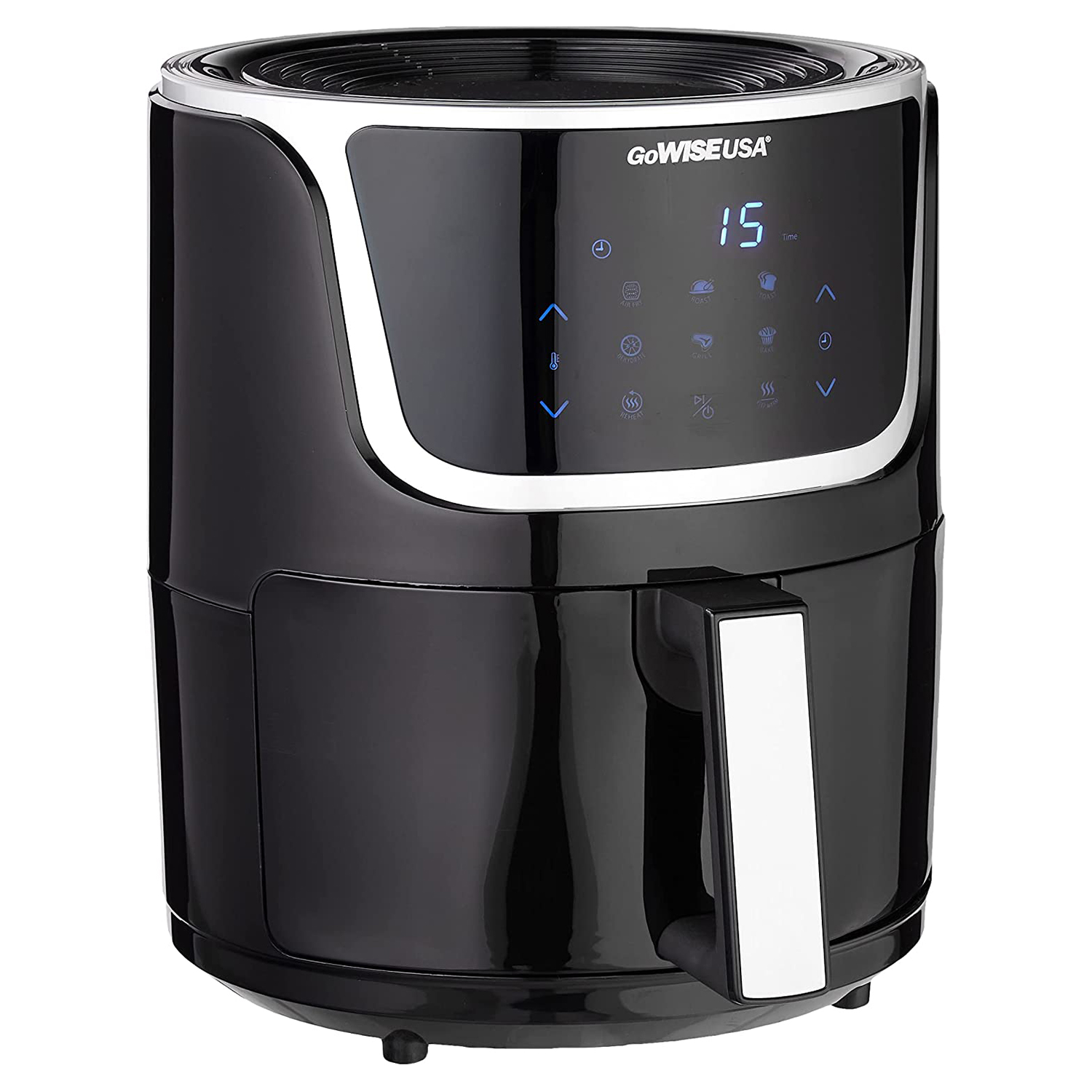 GoWISE USA GW22966 Fryer & Dehydrator Electric Air Fryer with Digital Touchscreen