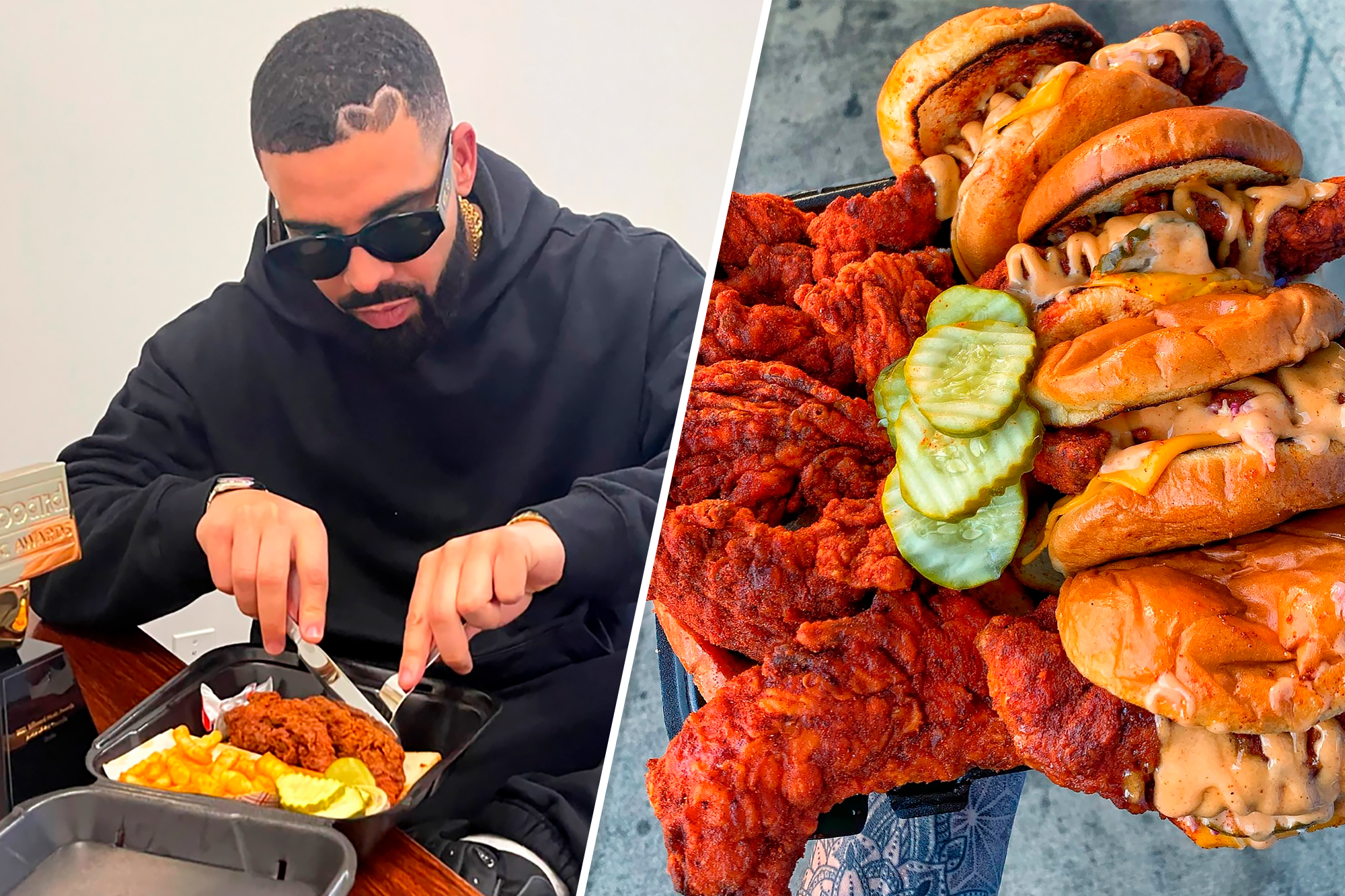 Drake's hot chicken concept with Dave's Hot Chicken