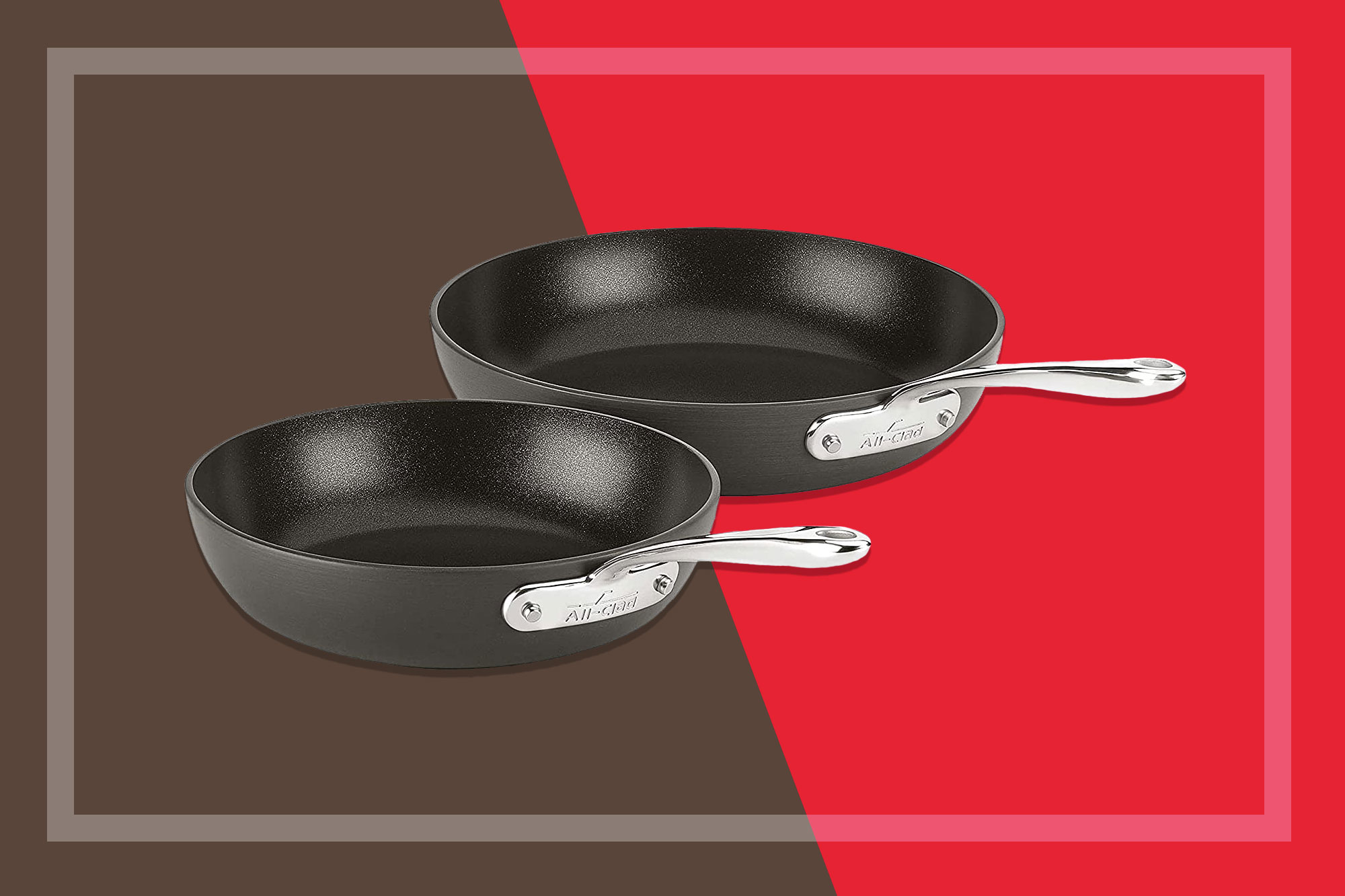 All-Clad Essentials Nonstick Hard Anodized Fry Pans