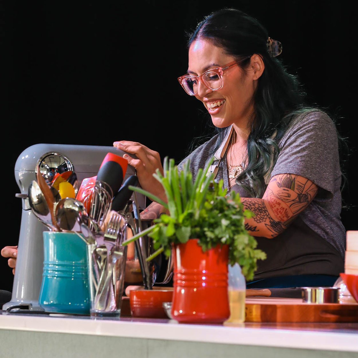 Claudette Zepeda cooking at the Food & Wine Classic in Aspen, 2021