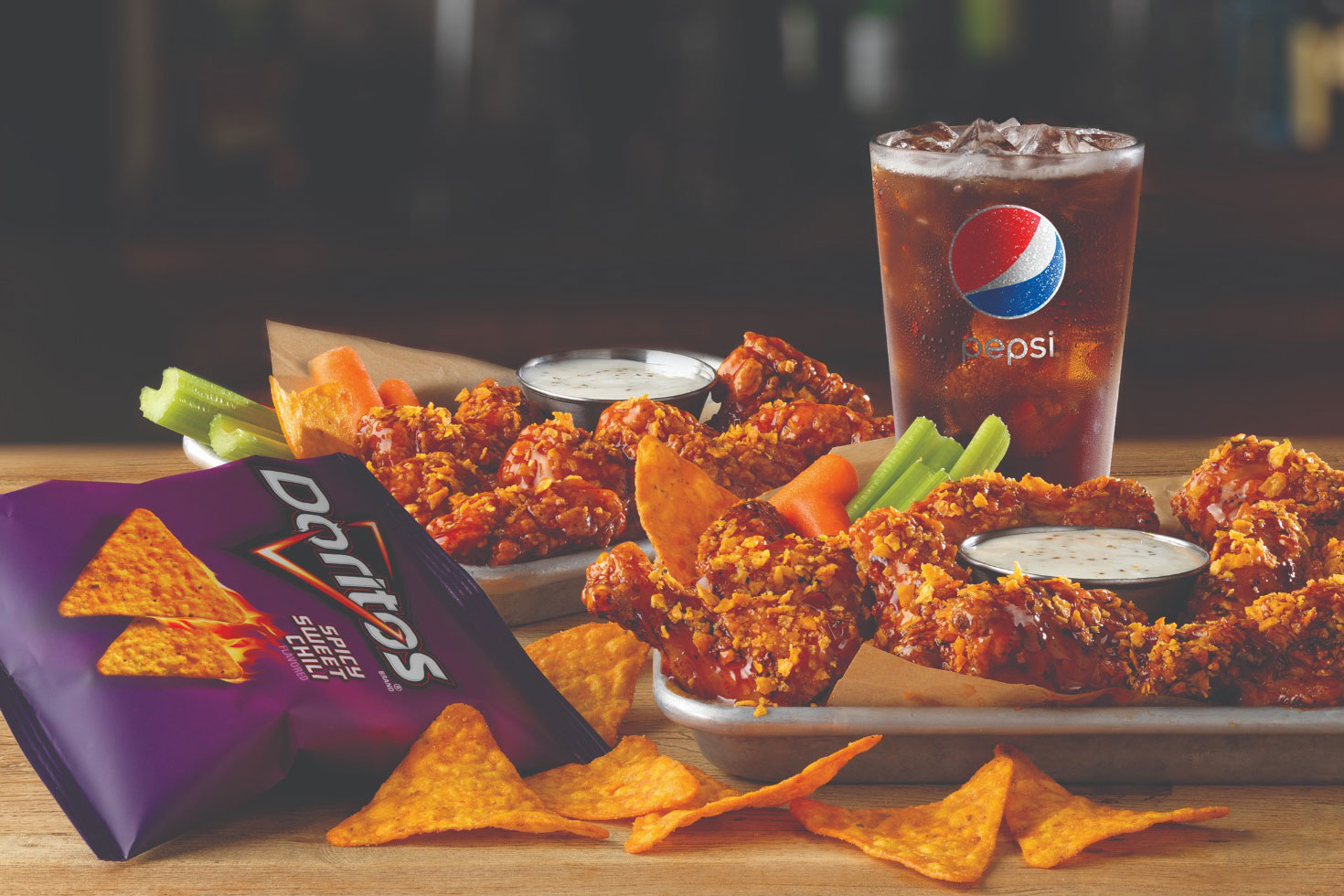 Spicy Sweet Chili Doritos chicken wings