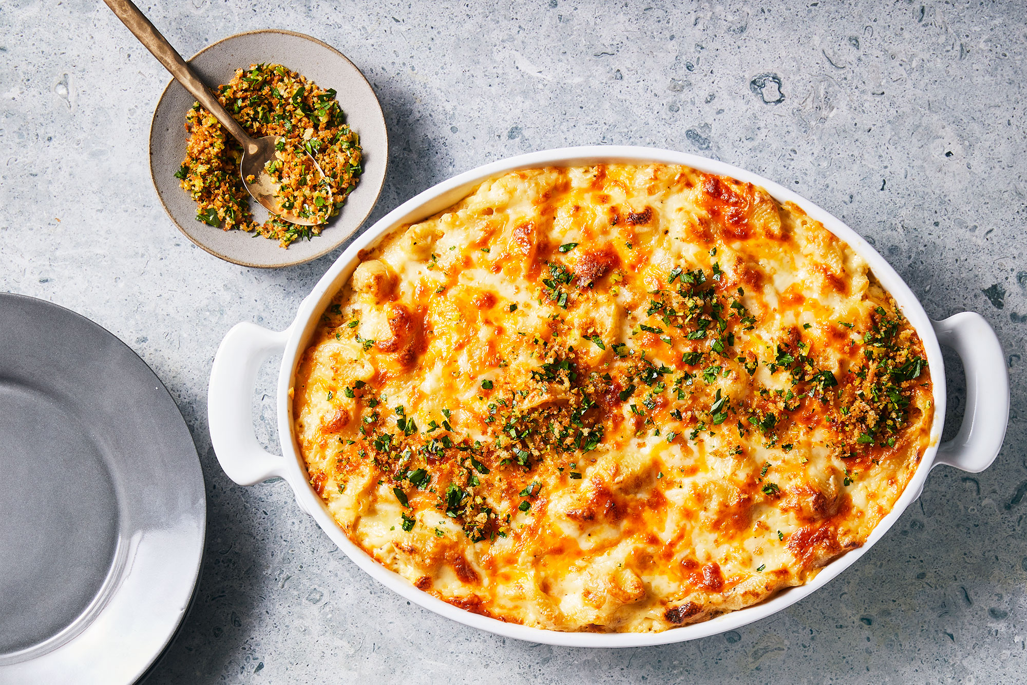 Baked Shells with Gremolata Breadcrumbs