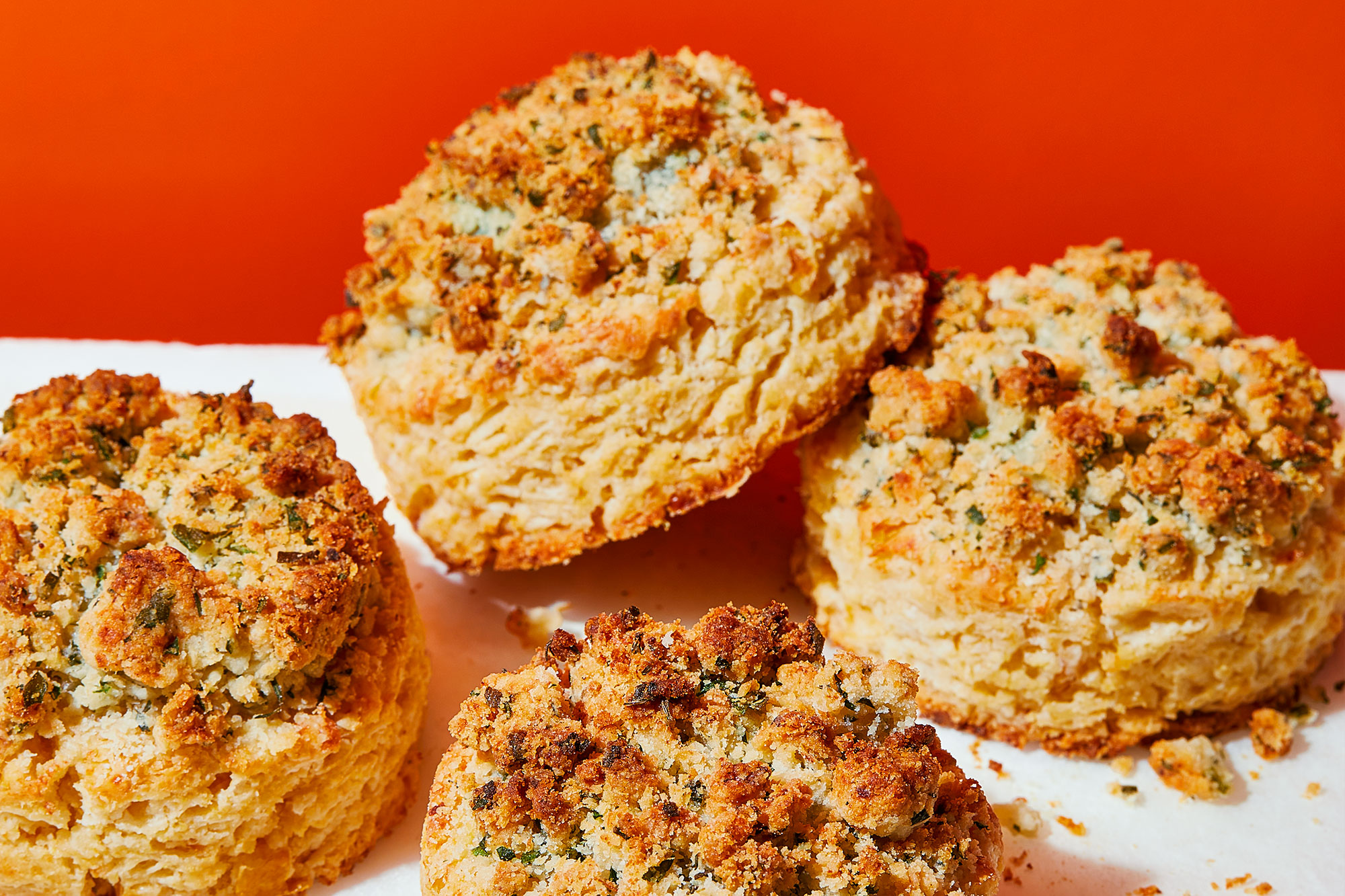 Corn Biscuits with Savory Herb Streusel