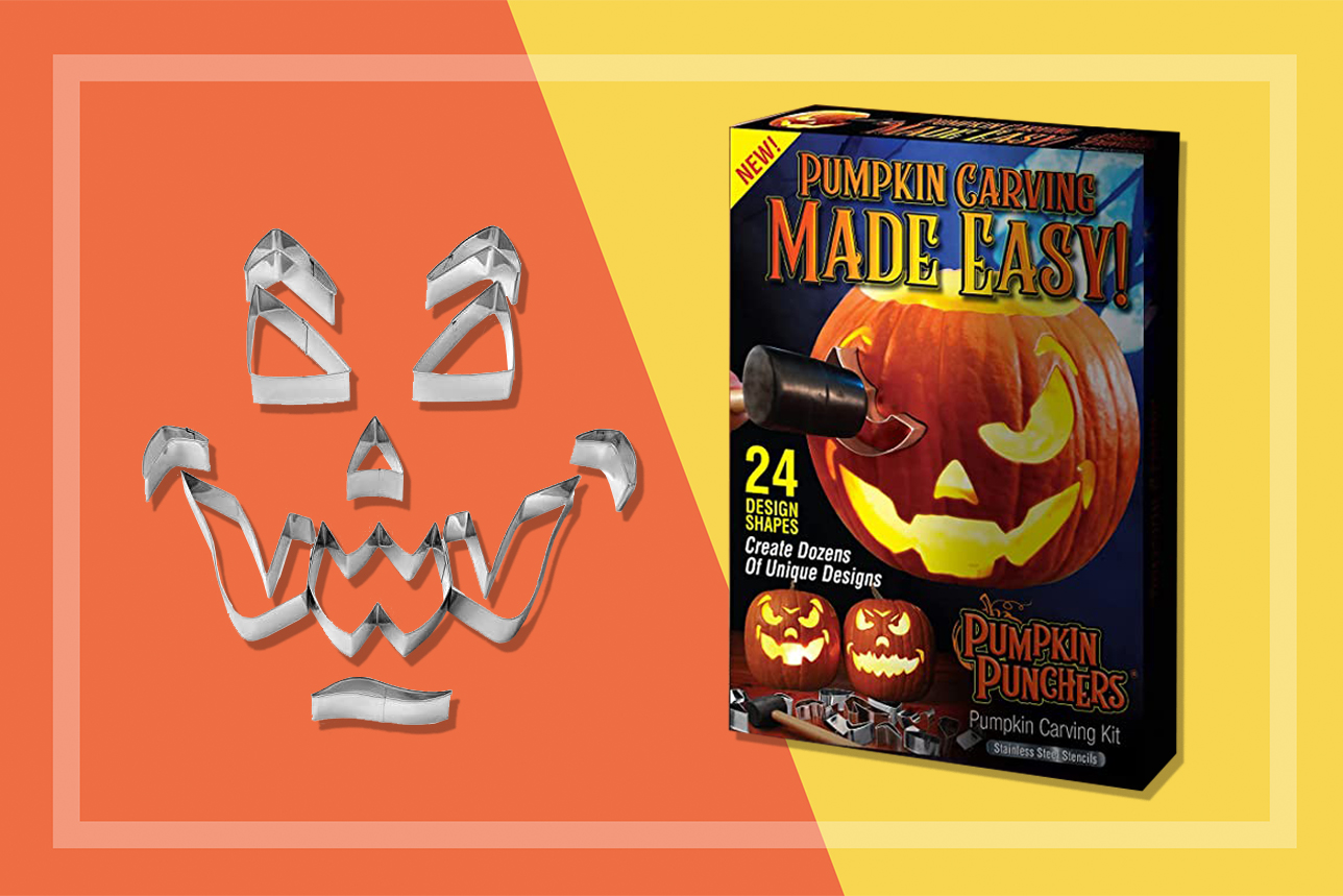 Pumpking carving kit box and pieces