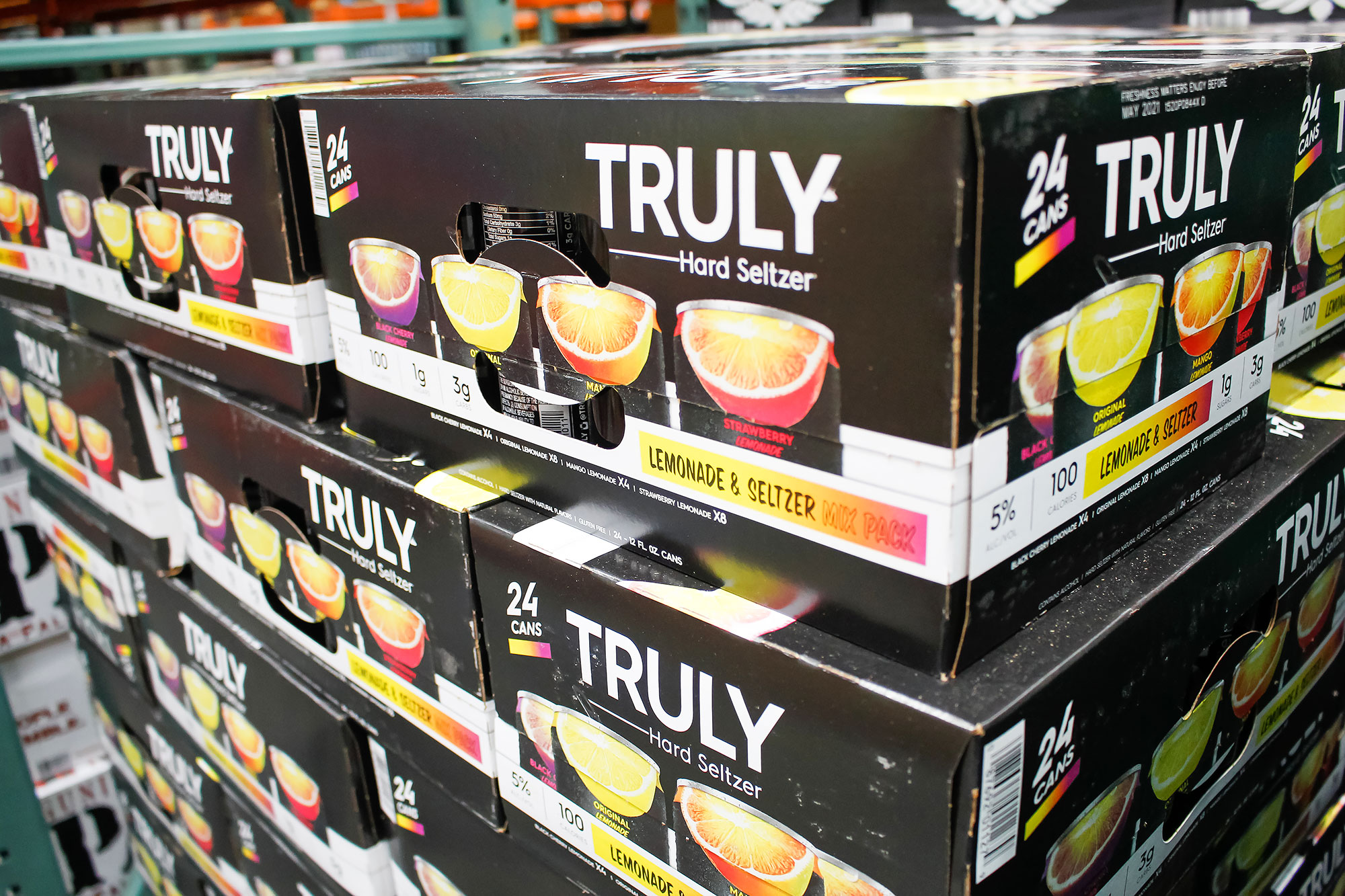 Cases of Truly Hard Seltzer