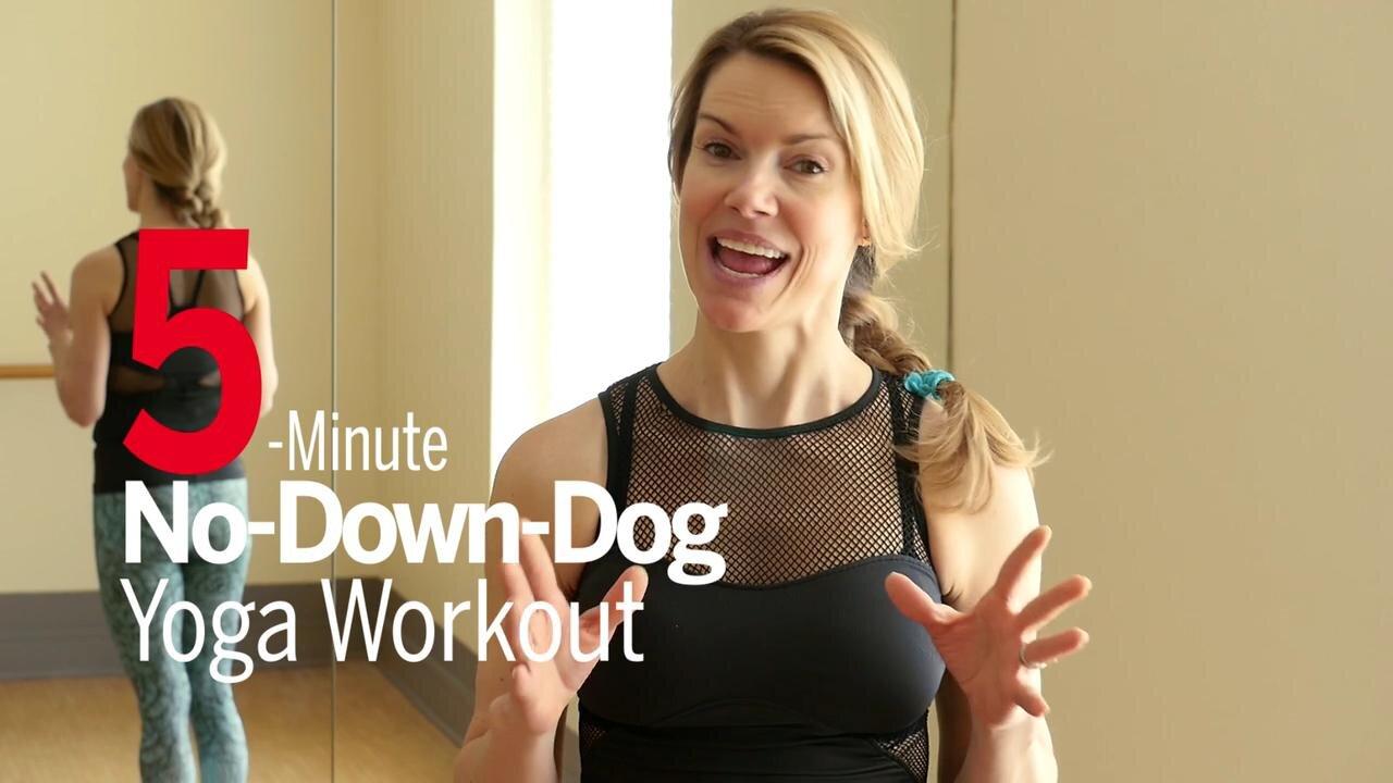 No Downward Dog Yoga Workout Video