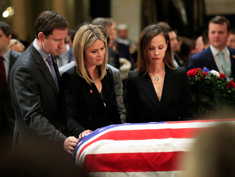Barbara Bush Says Grandfather George H.W. Asked If 'It Will Feel Worse Than This' After Wife Died bush-family-rotunda-1