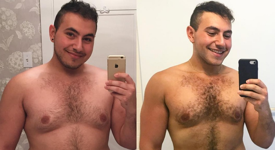 This guy posted shirtless pics to prove that men have body