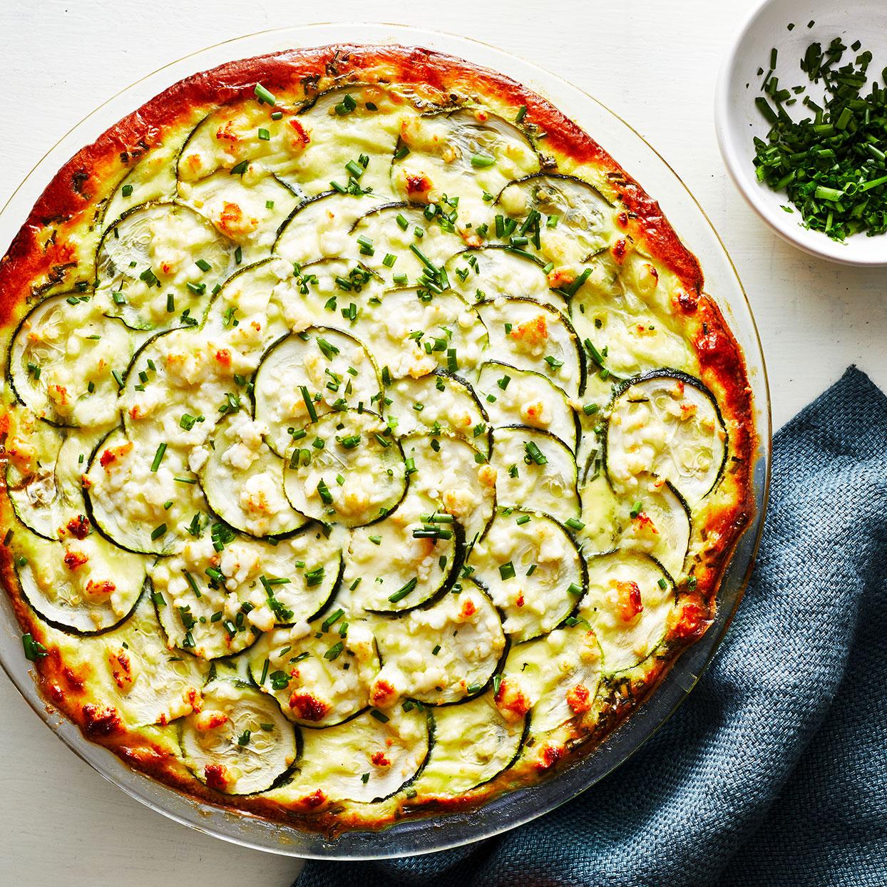 cheesy zucchini quiche recipe eatingwell