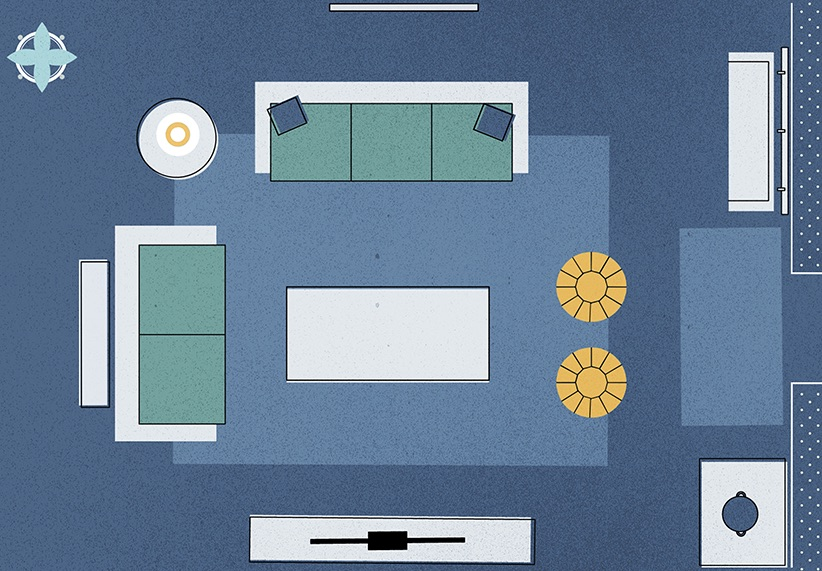 3 Genius Solutions for Living Room Layout Problems | Real ...