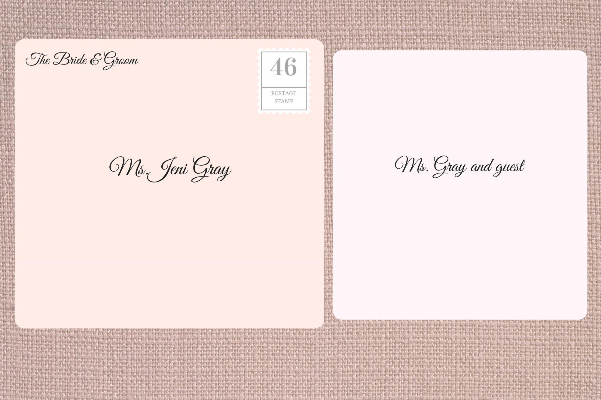 how to address an envelope to a couple