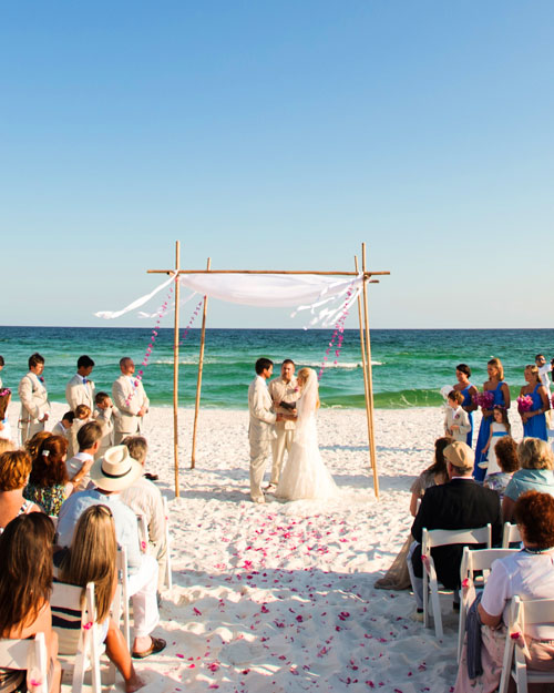 Beach Wedding Ceremony Processional: A Vibrant Wedding On The Beach In Florida