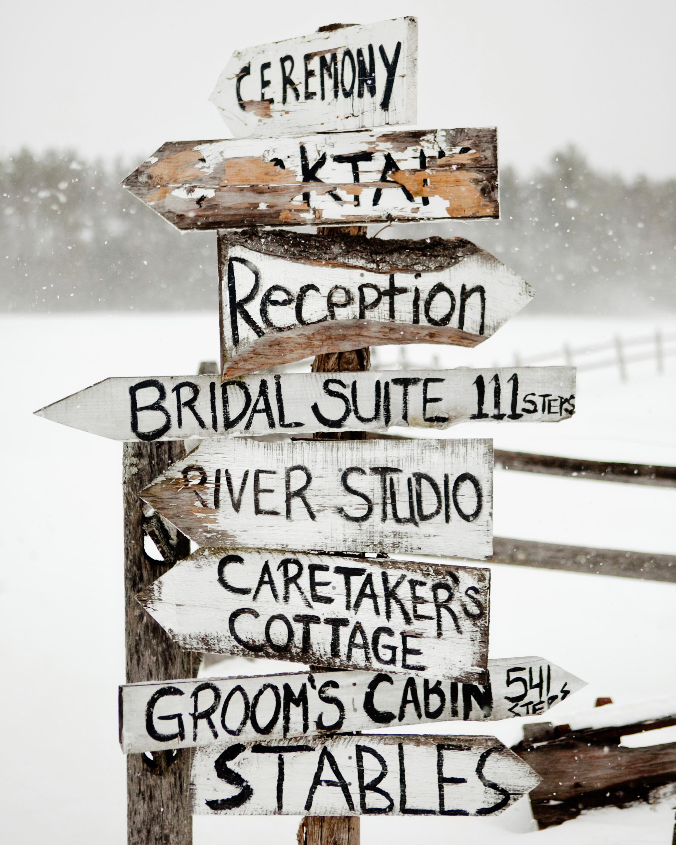 Wedding Signage Ideas: Martha Stewart Weddings