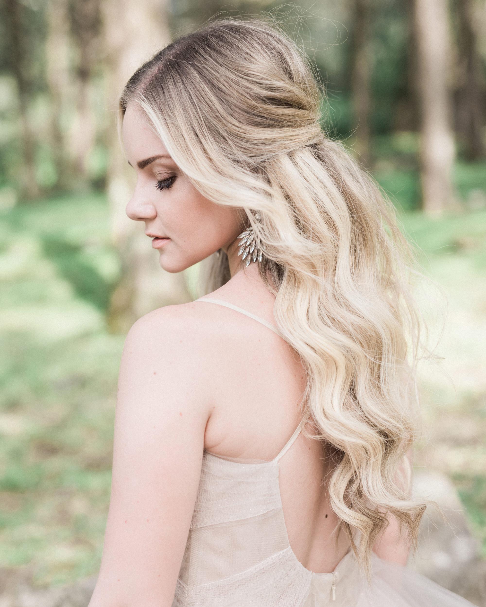 Half-Up, Half-Down Wedding Hairstyles We Love   Martha Stewart Weddings