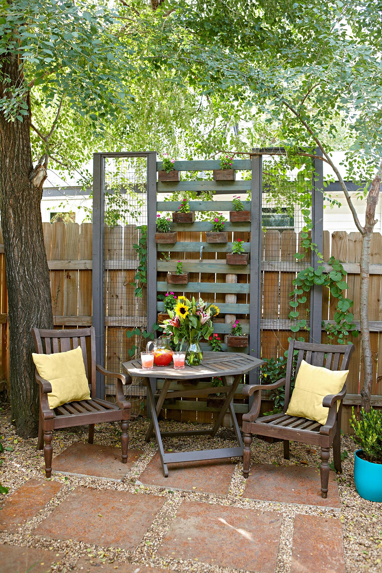 16 Simple Solutions for Small-Space Landscapes | Better ... on Small Garden Sitting Area Ideas id=69654