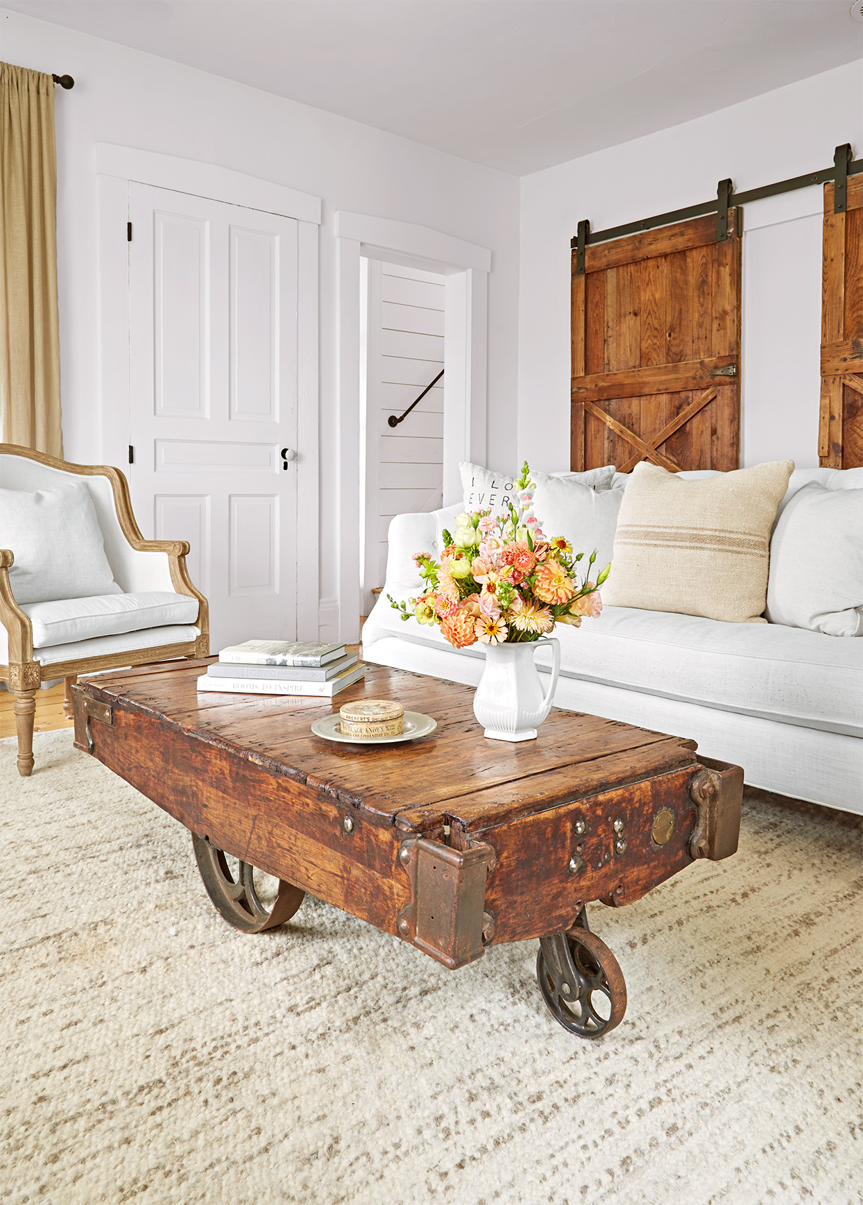 15 Farmhouse Living Room Ideas We Can't Get Enough Of ... on Farmhouse Living Room Curtains  id=53842