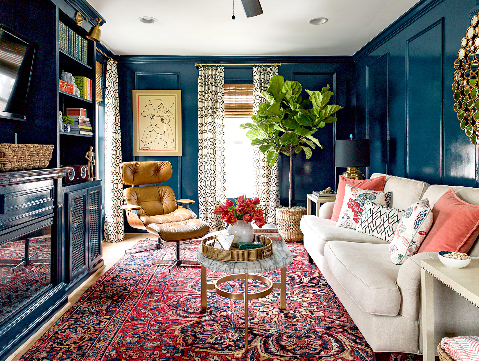 17 Distinctive Ways to Decorate with Blue Walls in Every ...