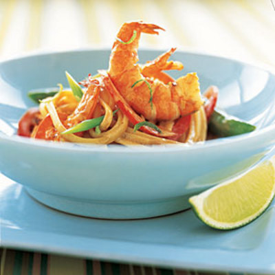Linguine With Sauteed Shrimp and CoconutLime Sauce