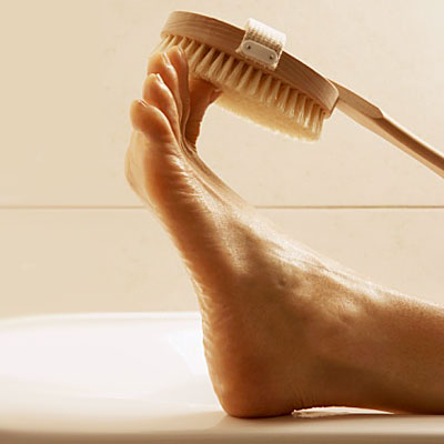Tuesday: Scrub your feet smooth