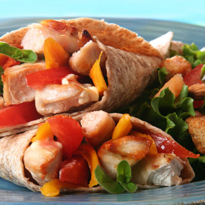 Chicken Wrap with Curry-Mango Mayonnaise