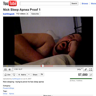 YouTube: Nick Sleep Apnea Proof 1