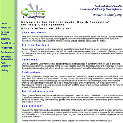 National Mental Health Consumers' Self-Help Clearinghouse
