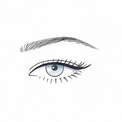 For almond eyes