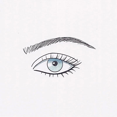 For prominent eyes