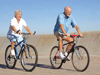 senior-couple-bicycles