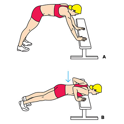 Bench plyo push-up