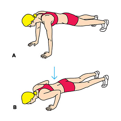 Eccentric push-up
