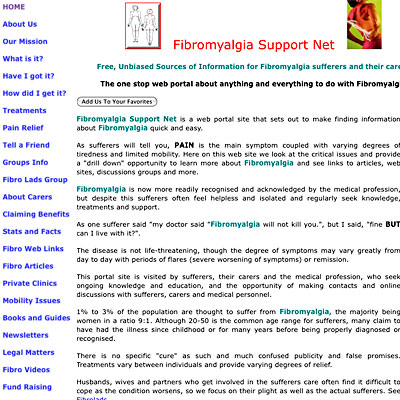 Fibromyalgia Support Net
