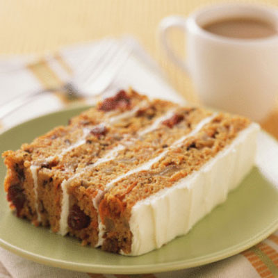 Frosted Carrot Cake Squares