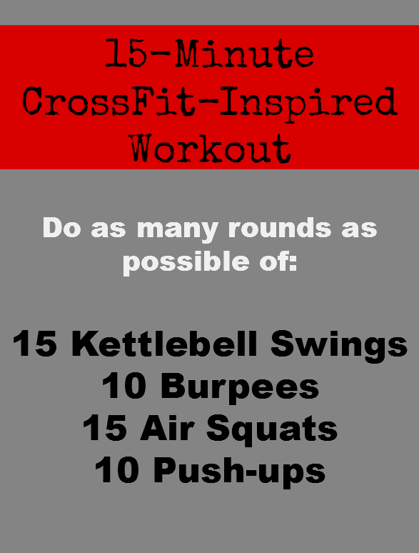 a quick and sweaty crossfit inspired workout health