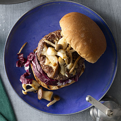 healthy-dinner-ideas-burger-mushroom-radicchio