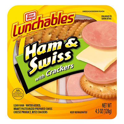 Lunchables Ham and Swiss With Crackers