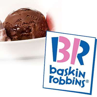 Baskin-Robbins Light Aloha Brownie Ice Cream