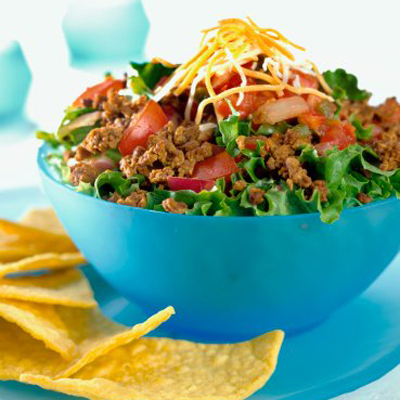 Alisa's Taco Salad with Yogurty Salsa