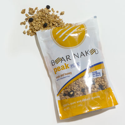 Granola: Bear Naked Peak Flax Oats and Honey with Blueberries
