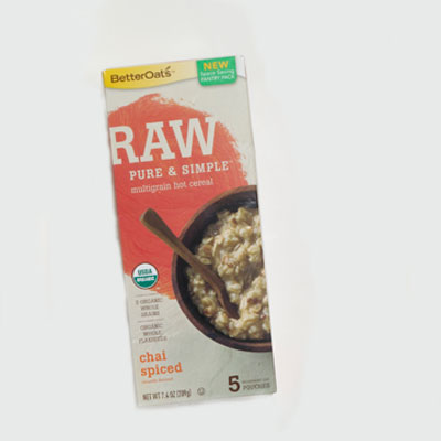 Hot Cereal: Better Oats Raw Pure & Simple Chai Spiced
