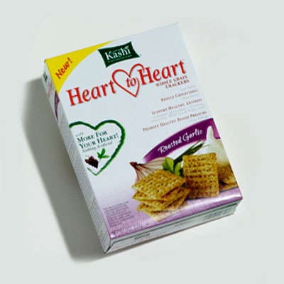 Crackers: Kashi Heart to Heart Roasted Garlic